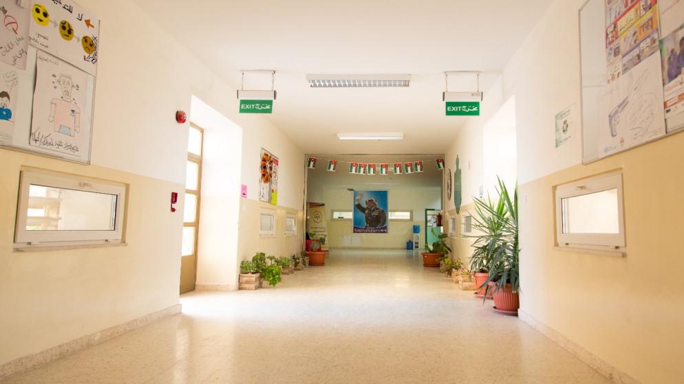 مدرسة نفذتها وزارة التربية والتعليم بتمويل من الحكومة الألمانية. (بنك الإعمار الألماني)
