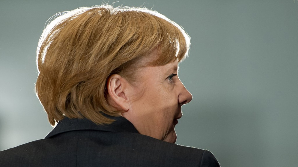 المستشارة الألمانية أنغيلا ميركل، 14 حزيران/يونيو 2021. (أ ف ب)